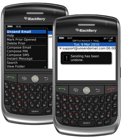 Unsend Email - undo a sent email from your BlackBerry